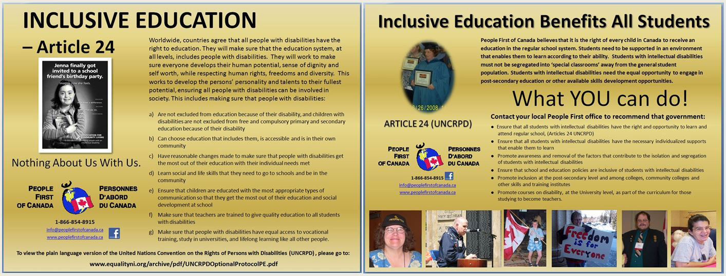 paragraph on inclusive education